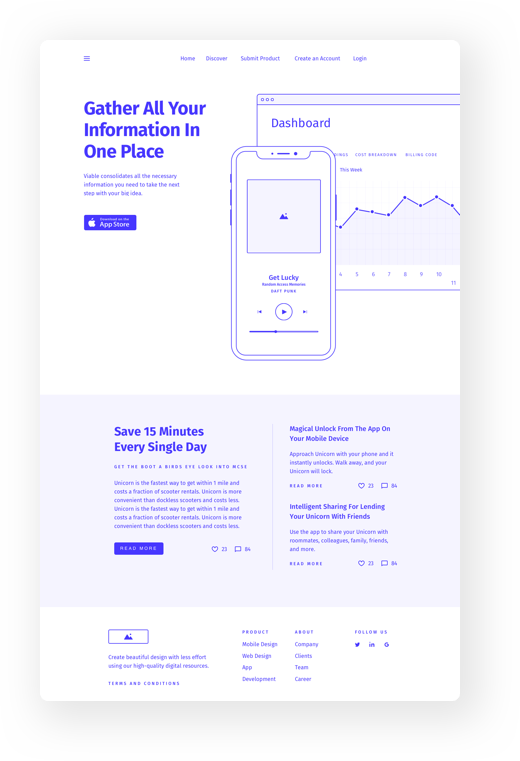 Webdesign wireframe